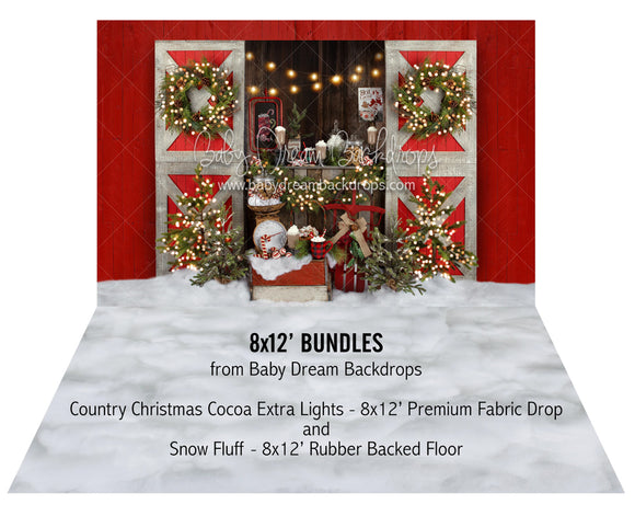 Country Christmas Cocoa Extra Lights and Snow Fluff