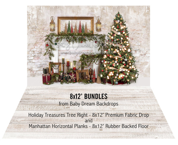 Holiday Treasures Tree Right and Manhattan Horizontal Planks