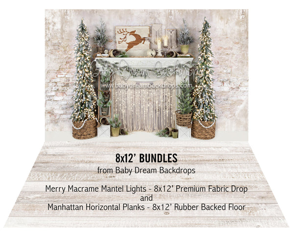Merry Macrame Mantel Lights and Manhattan Horizontal Planks