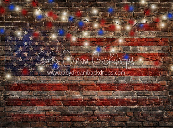 American Alley Flag and Lights - 8x10 - CC