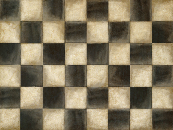 Antiqued Checkers Floor
