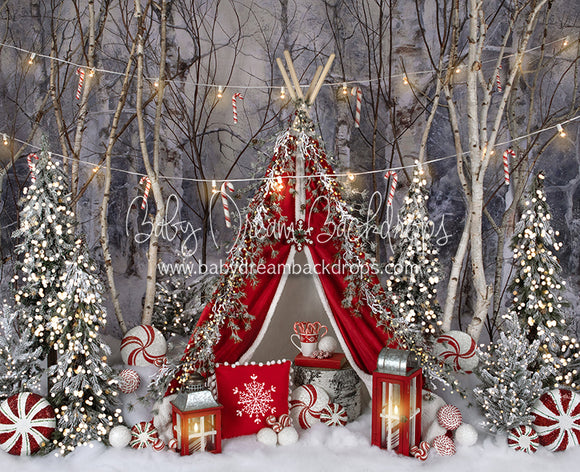 Believe In Birch Peppermint Tent Lights