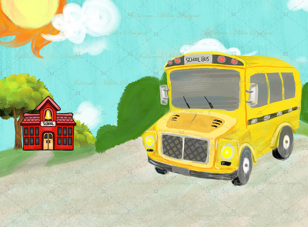 Big Yellow Bus 6x8