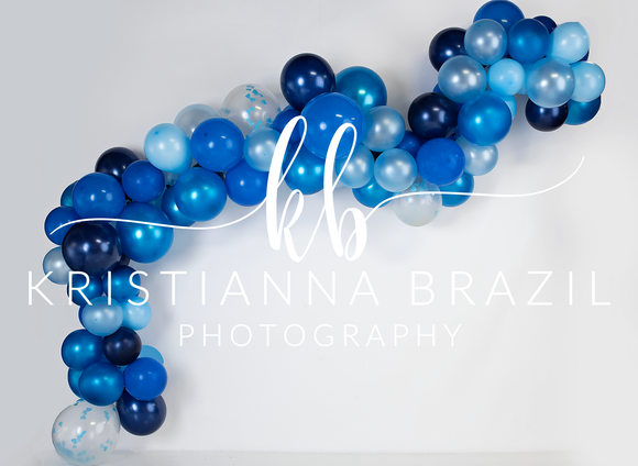 Blue Balloon Garland 2