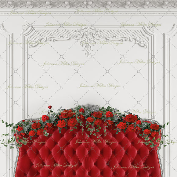 Boudoir Rose Red Headboard