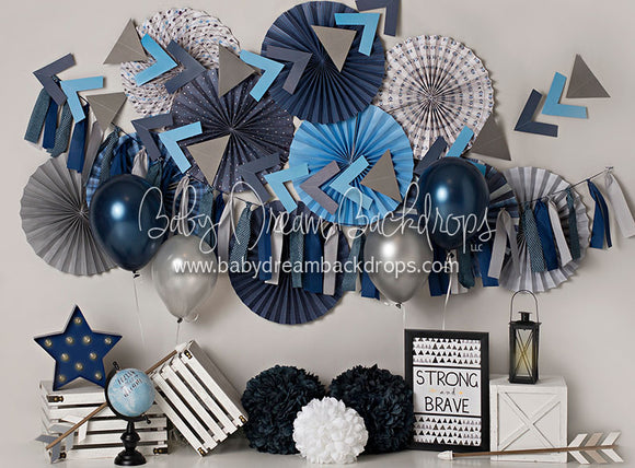 Brave Blues with Balloons - 60Hx80W - BS