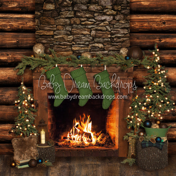 Cabin Traditions Fireplace - 8x8 - JA