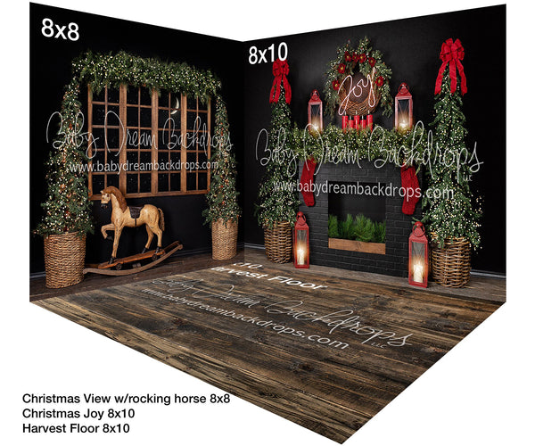 Christmas Joy with Rocking Horse Room
