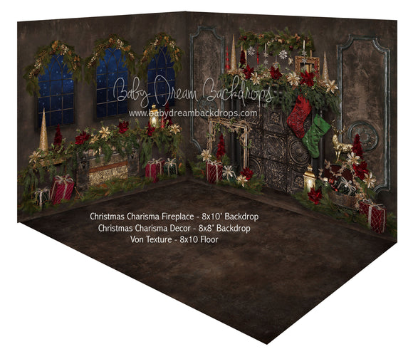Christmas Charisma Fireplace and Christmas Charisma  Decor Room