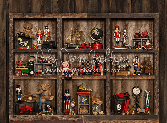 Claus Corner Toy Shelves