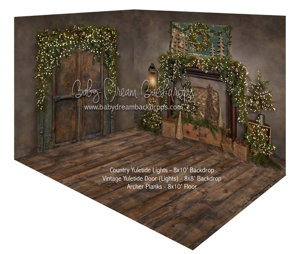 Country Yuletide Lights and Vintage Yuletide Door Lights Room