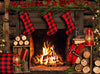 Cuddle Up for Christmas (Dark Mantel) - 60Hx80W - JA