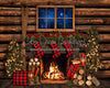 Cuddle Up for Christmas (dark mantel) - 8x10 - JA