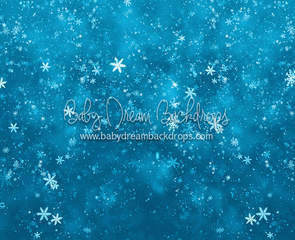 Dancing Snowfall Light Blue