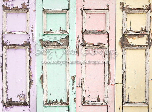 Distressed Spring Doors - 60Hx80W - CC