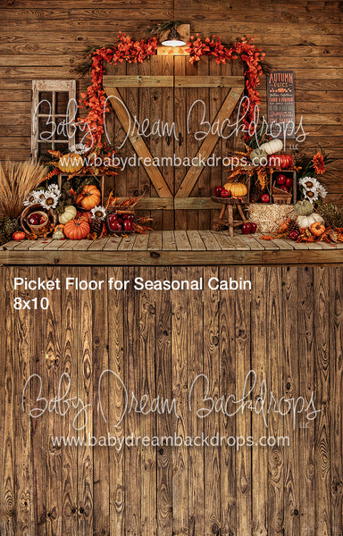 Fall Cabin and Picket Floor