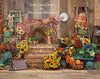 Fall Flower Stand WAGON - 8x10 - SD