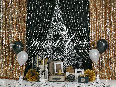 Glam Damask Birthday 60hx80w ML