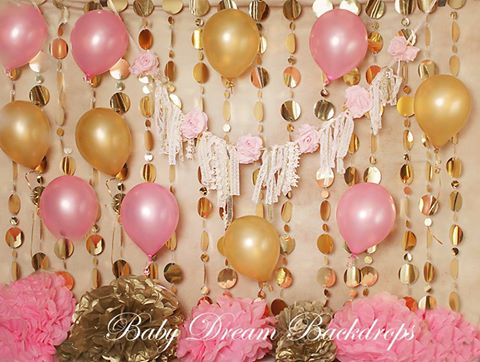 Golden Shabby Birthday - 60x80