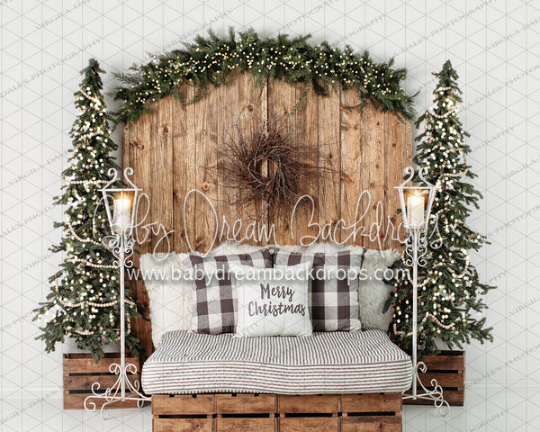 Golden Christmas Dreams Headboard with Lights