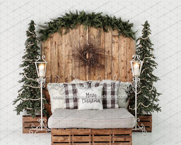 Golden Christmas Dreams Headboard with No Lights
