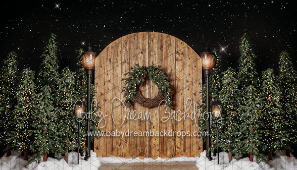 Golden Oak Rustic Entry