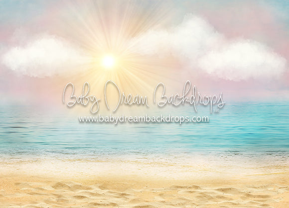 Good Morning Beach - 5x7 Backdrop - CC (Matte Fleece)