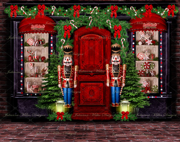 Holiday Candy Cane Shop 8x10