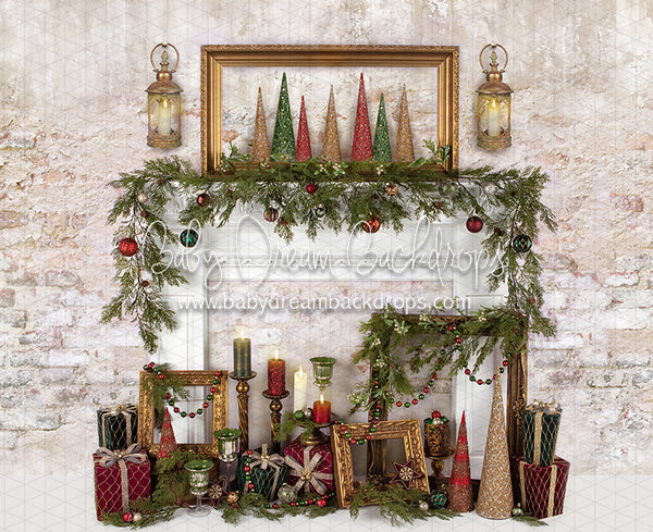 Holiday Treasures Mantel