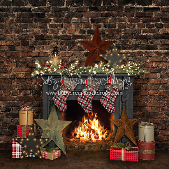 Holiday Loft Fireplace - 8x8 - JA