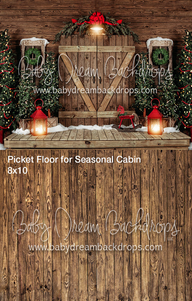 Holly Cabin and Picket Floor