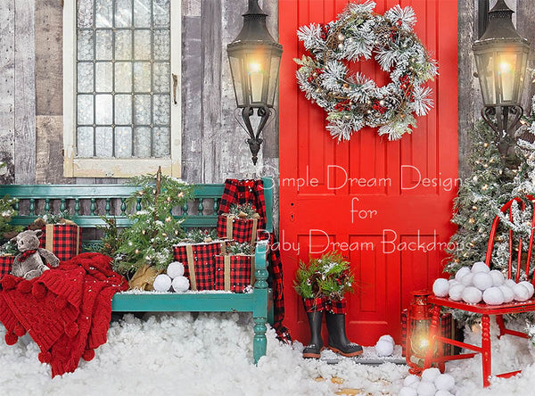 Home For Christmas Bench 6x8 - SD
