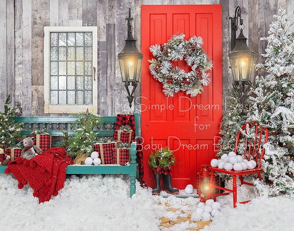 Home For Christmas Bench RIGHT 8x10 - SD