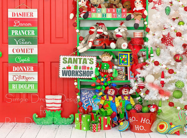 Elves Toy Room RED DOOR - 60Hx80W - SD