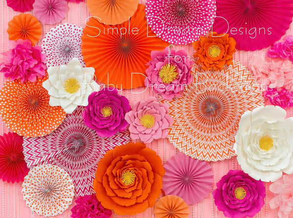 Pinwheels And Petals Pink And Orange 60Hx80W SD