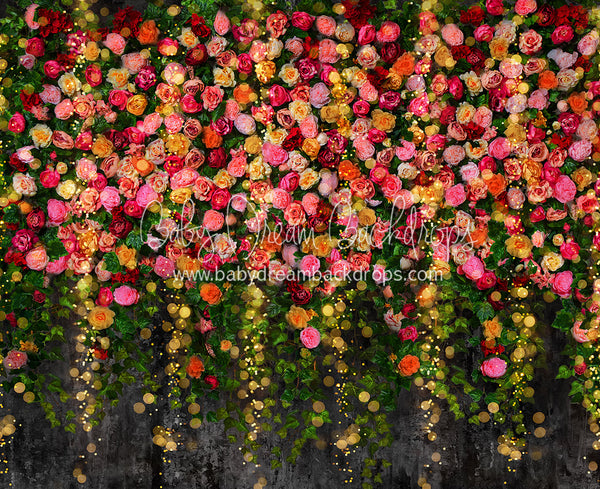 Midnight Floral Wall Lights