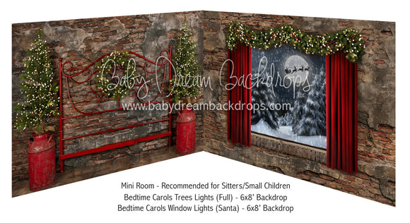 Bedtime Carols Tree Lights Full and Bedtime Carols Window Lights Santa