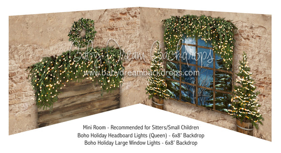 Boho Holiday Headboard Lights Queen and Large Window Lights