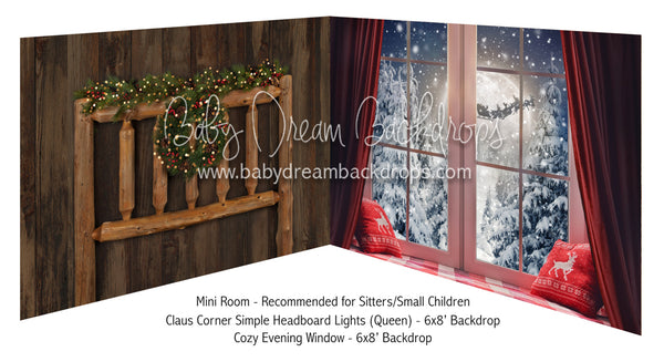 Claus Corner Simple Headboard Lights Queen and Cozy Evening Window