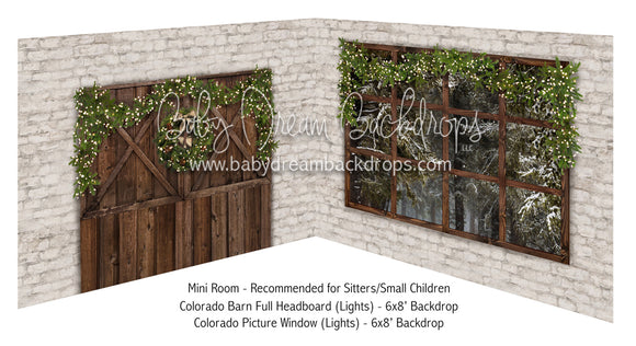 Colorado Barn Full Headboard Lights and Picture Window Lights