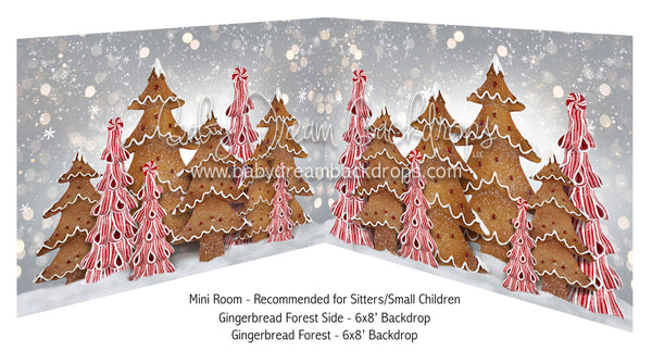 Mini Gingerbread Forest Side and Gingerbread Forest