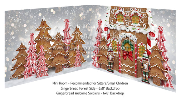 Mini Gingerbread Forest Side and Gingerbread Welcome Soldiers