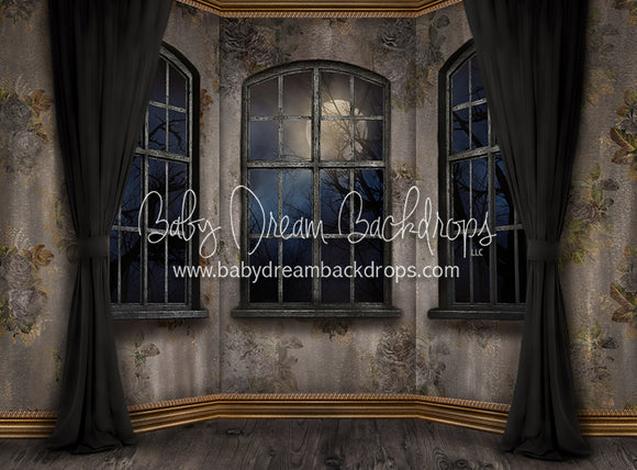 Moonlit Mansion Window 60x80