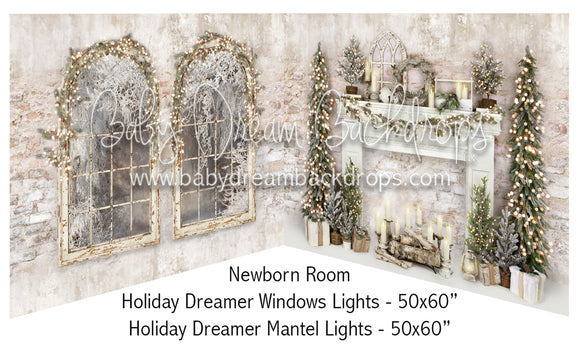 Holiday Dreamer Windows Lights and Mantel Lights Newborn Bundle
