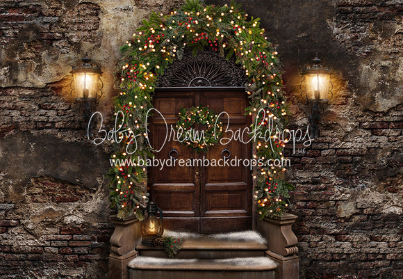 Old City Christmas Door