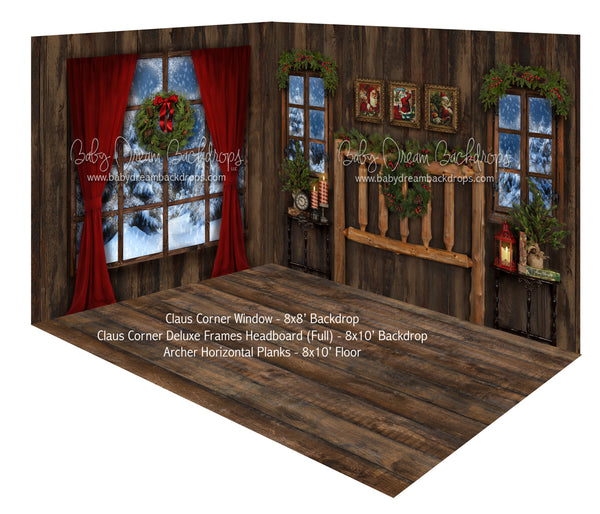 Claus Corner Window and Deluxe Frame Headboard (Full) Room