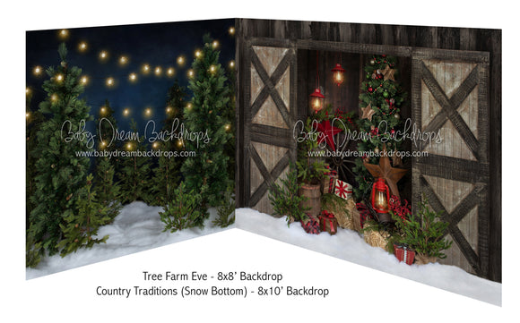 Tree Farm Eve and Country Traditions (Snow Bottom)