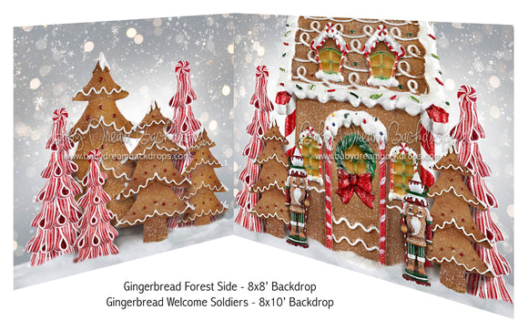 Gingerbread Forest Side and Gingerbread Welcome Soldiers