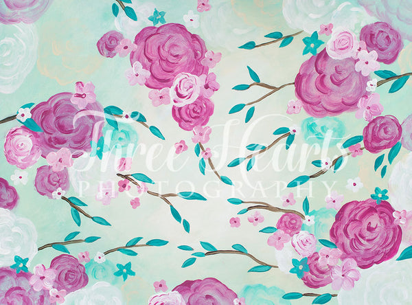 Roses in the Breeze 60hx80w DW