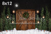 Rustic Christmas with Lights Moon